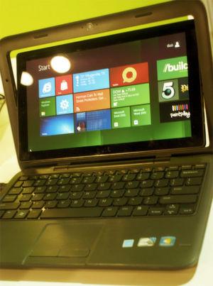 """Windows 8 auf einem """"Inspiron Duo"""" von Dell; Bild: Ostler"""
