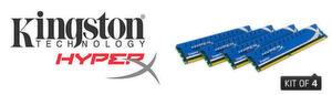 Kingston bietet die HyperX-Genesis-Kits mit vier und acht Modulen an.