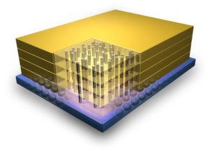 Der 3-D-Chip als Grafik (IBM)