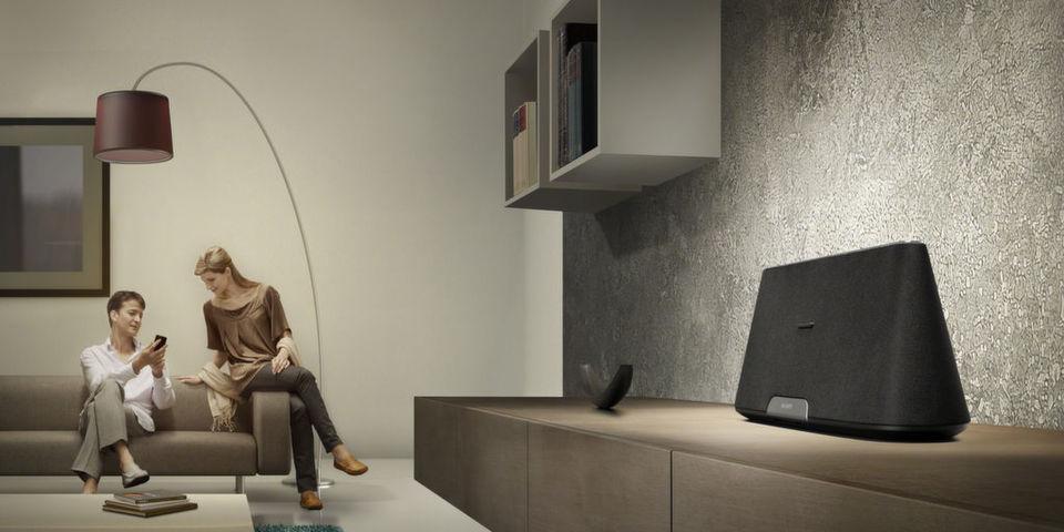 Audioinhalte können mit den Geräten der X-Serie kabellos übertragen werden.