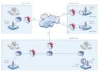 Abbildung 4: Die Architektur von PRTG. Mittels remote Probes (Sensoren) sind auch entfernte System in der Cloud über das Internet zu überwachen.
