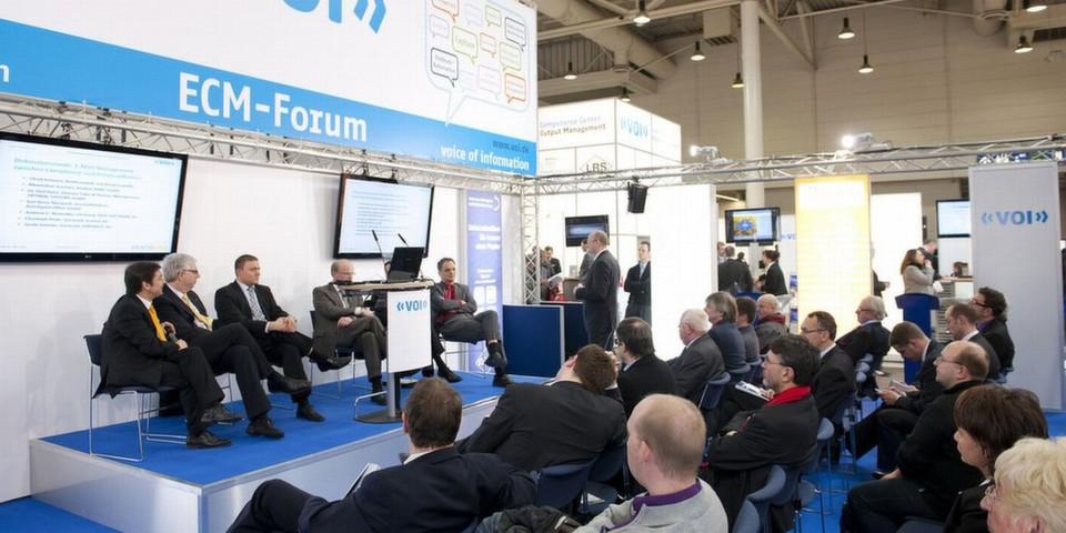 Das ECM-Forum des VOI beleuchtet an den Messetagen aktuelle Themen rund um digitales Informationsmanagement. In diesem Jahr steht u.a. Cloud Computing auf der Tagesordnung.
