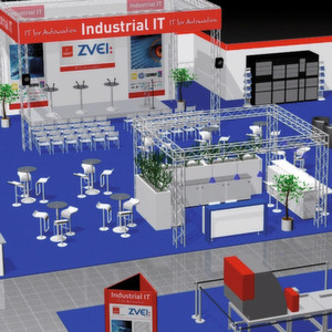 Last year's Industrial IT exhibition. (Bild: Hannover Messe)