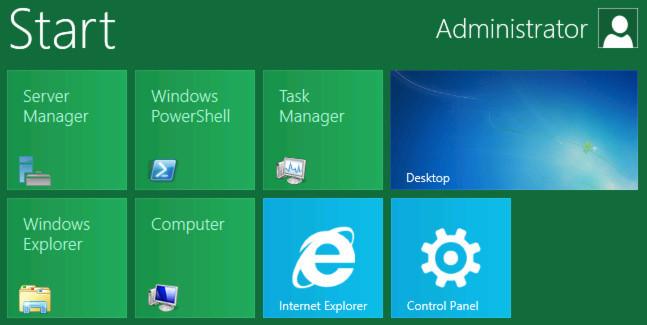 Windows Server 8 bietet bei Bedarf das für Touchscreens optimierte Kachel-Design.