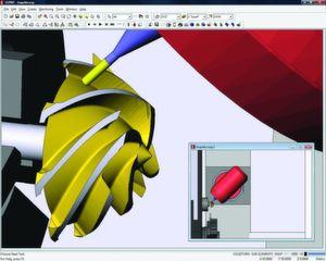 Die neue Version der CAM-Software Esprit 2012 kann Verbesserungen beim Drehen, Fräsen, Drehfräsen und bei Drahterodierzyklen aufweisen. (Bild: DP Technology)
