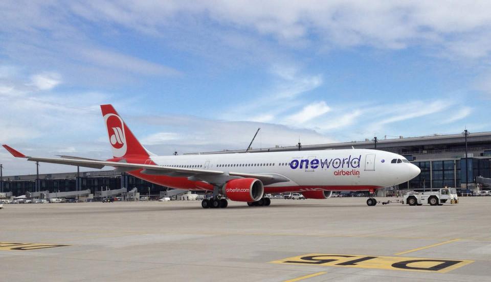 Die Fluggesellschaft Airberlin ist Mitglied der Oneworld-Alliance. Deren IT-Drehscheibe beziehungsweise Cloud-Plattform basiert unter anderem auf Dell-Boomi. (Airberlin)