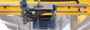 Demag Cranes & Components AG: Funkgesteuerte Krane jetzt auch mit Energiekette