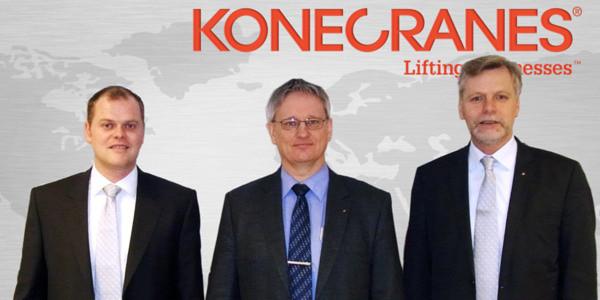 Konecranes-Lifttrucks-Vertriebsteam (v.l.): Jürgen Bergmann, Vertrieb Süddeutschland; Hans-Jürgen Haupt, Vertriebsdirektor; Jens Uwe Meier, Vertrieb Norddeutschland. (Bild: Konecranes)