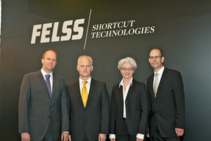 Das neue Felss-Management-Team (v.l.): Dr. Burghard Schneider, Mark Schwegler, Christine Kienhöfer und Rainer Schiessle. (Bild: Felss)