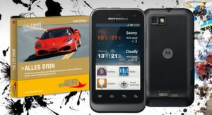 Das Outdoor-Handy DEFY Mini von Motorola ist wassergeschützt und staubdicht.