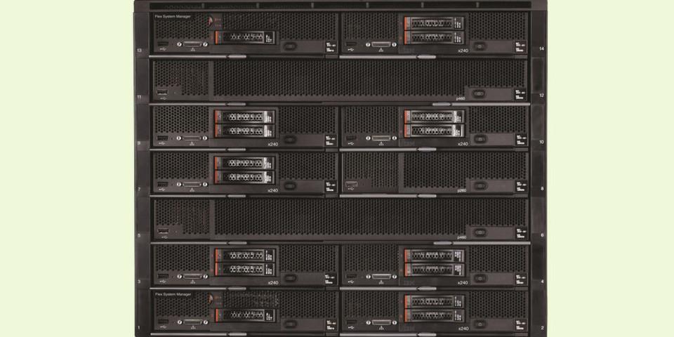 """Die Modelle des PureSystems verkörpern das neue """"Expert Integrated Systems""""-Konzept von IBM."""
