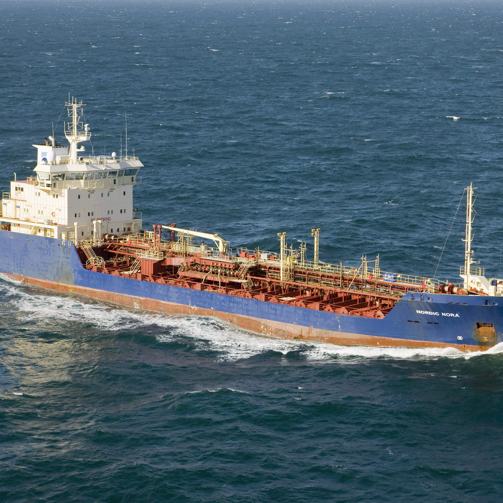 The Nordic Nora, one of Nordic Tankers chemical tankers, soon to be sold to Triton.