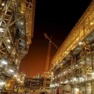 Shell petrochemical construction site in the Middle East, a region that competes with China for dominance on the methanol market. (Picture: Shell)