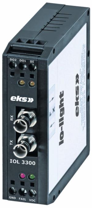 Der bidirektional arbeitende E/A-Wandler von Engel arbeitet mit allen gängigen Faserarten zur Signalverarbeitung und steuert etwa Antriebe oder Beleuchtungssysteme. Bild: EKS Engel