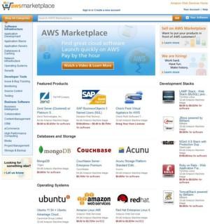 Auf dem AWS Marketplace vertreibt Amazon unter anderem Lösungen von CA, Check Point, IBM, Microsoft, Perforce, SAP und Zend.
