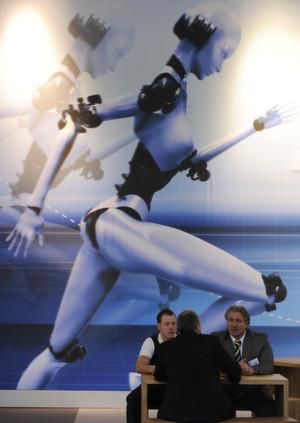 Sonderschau Robotics & Automation auf der Hannover Messe 2012.