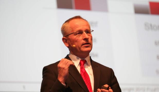 Channel-Chef Jörg Brünig auf dem Fujitsu-Partnertag in München.