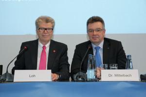 Friedhelm Loh, Präsident des ZVEI, und Dr. Klaus Mittelbach, Vorsitzender der Geschäftsführung des ZVEI, bekräftigten anlässlich der Hannover-Messe ihren Optimismus für dieses Jahr.