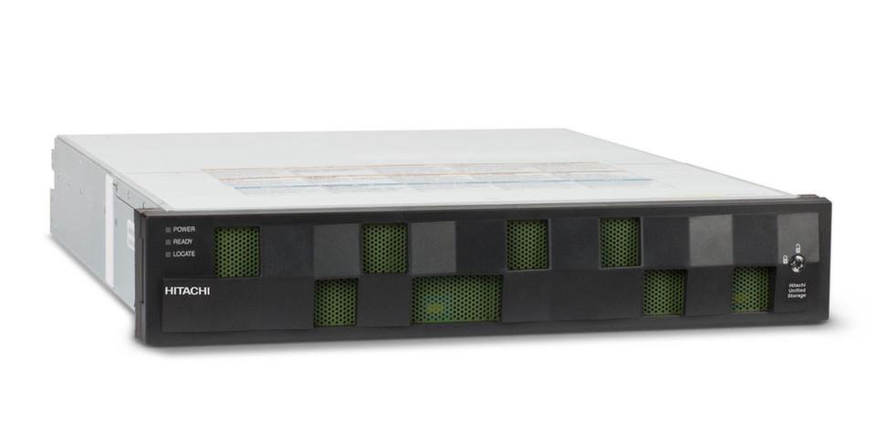 Hitachi Universal Storage in der Basiskonfiguration mit 12 Laufwerken.