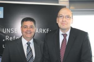 Dr.-Ing. Willi Fuchs, VDI-Direktor (links), und Dr. Hans-Peter Klös, IW-Geschäftsführer, haben in Hannover die neue Studie über den Arbeitsmarkt für Ingenieure vorgestellt. Die Zahlen bleiben, so ihr Resümee, bedrohlich. Bild: Schnell