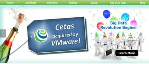 Auf der Cetas-Website: Freude über den Aufkauf durch VMware