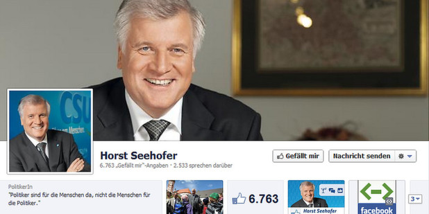 Seehofer ldt zur Facebook-Party in die Nobeldisco P1