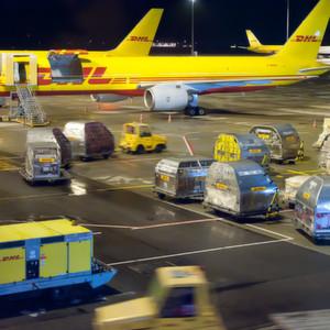 Keine Probleme am Leipziger Airport: In Sachsen betreibt auch der KEP-Dienst DHL ein großes Hub.