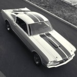 Der erste gefertigte Shelby Mustang GT350, im Jahr 1964.