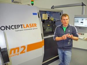 """Christoph Hauck, Geschäftsführer toolcraft: """"Laserschmelzen bedeutet einen Quantensprung, um funktionelle, kompakte und preisgünstige Bauteile anzubieten."""""""