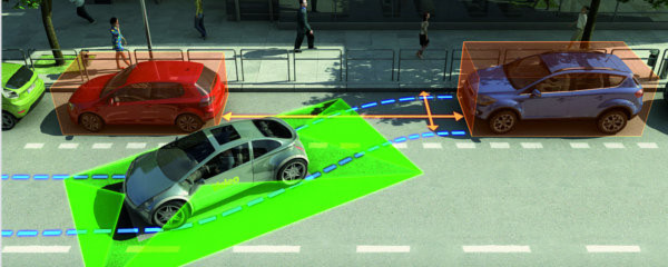Seit 2007 existieren Assistenzsysteme, die das Fahrzeug automatisch in die Parklücke lenken.