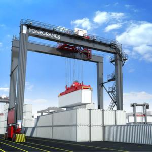 Die Hybrid-RTG von Konecranes können den Dieselverbrauch im Hafen signifikant reduzieren.