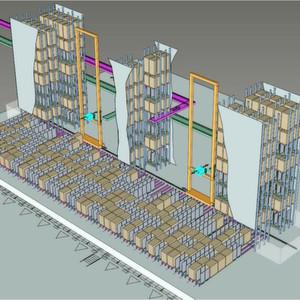 Im Warenausgangspuffer lassen sich Europaletten und Rollcontainer vor der Auslieferung zwischenpuffern. Einzelne Module können in unterschiedliche Temperaturbereiche eingeteilt werden.