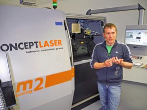 Christoph Hauck, Geschäftsführer von Toolcraft: «Laserschmelzen bedeutet einen Quantensprung, um funktionelle, kompakte und preisgünstige Bauteile anzubieten.»