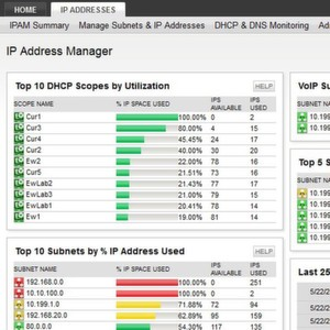 Im Dashboard des Solarwinds IP Address Manager 3.0 werden alle Daten konsolidiert.
