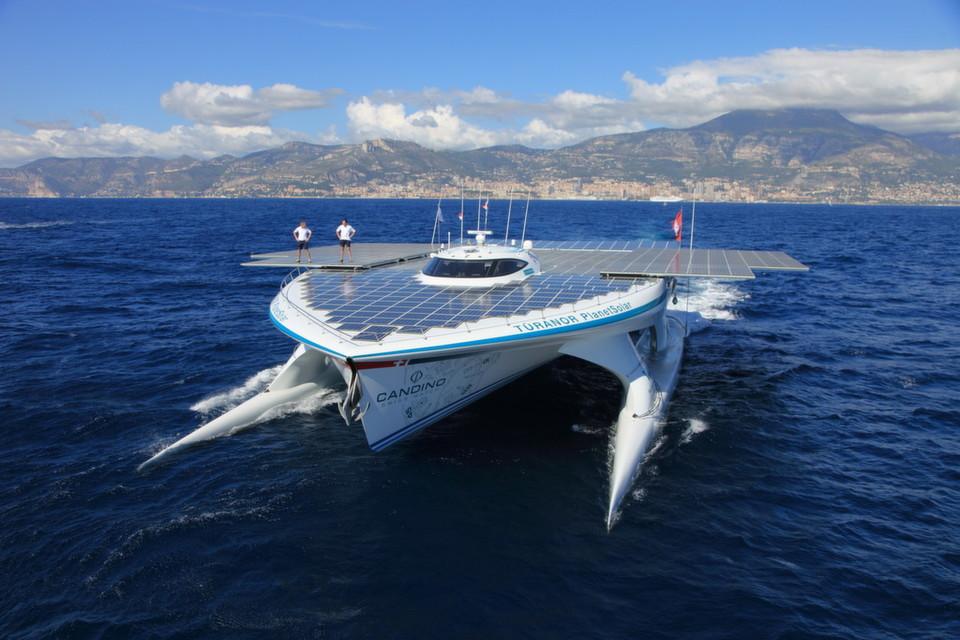 Momentan tourt die Planet Solar als Botschafter der Solarenergie durchs Mittelmeer.
