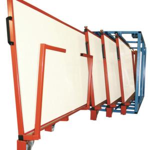 Das Tafelregal TRGV ermöglicht die gleichzeitige Lagerung verschiedener Größen.