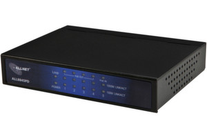 Hohe Flexibilitt verspricht der 5-Port-Gigabit-Switch ALL8845PD von ALLNET.