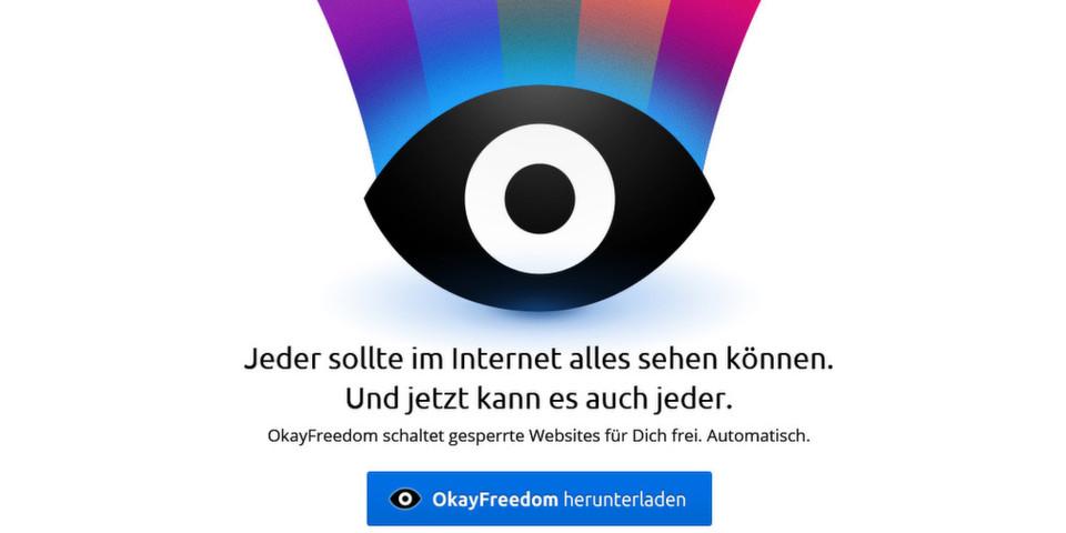 Mit OkayFreedom per Mausklick zu einer anderen Identität in Form einer ausländischen IP. So lassen sich Ländersperren wie GEMA-Blockaden legal umgehen.