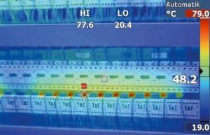 Anhand von Wärmebildern will Dematic künftig drohende Anlagenausfälle in der Intralogistik erkennen und vermeiden helfen.