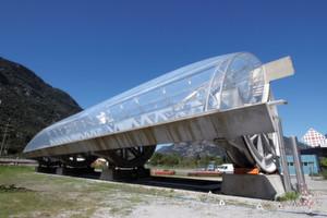 Unkonventionelle Konstruktion: Die Tröge der Solarkraftwerke von Airlight Energy sind aus Spannbeton.