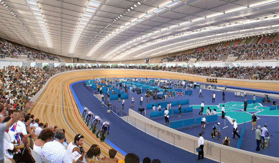 Velodrom der olympischen Spiele 2012