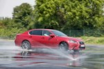 Der Lexus GS F Sport auf dem ADAC-Testgelnde in Grevenbroich  hier beim Nass-Handling-Test.