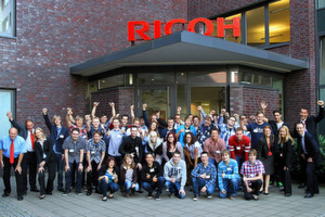 Ausbildungsstart 2012: Ricoh untersttzt 34 junge Menschen beim Start ins Berufsleben.