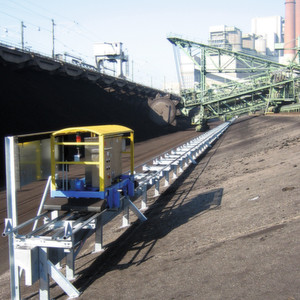 Fig. 1: 3D scanners deliver information for stockpile monitoring and visulisation in an integrated coal management system.