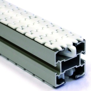 Der neue, 65 mm breite Flexlink-Frderer hilft mit doppelter Kettenzugkraft, Kosten zu sparen.