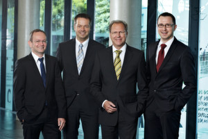 Knapp-Management mit neuem Aufsichtsratsmitglied Eduard Wünscher (v.l.): Gerald Hofer (CEO), Franz Mathi (COO), Eduard Wünscher (Aufsichtsrat) und Christian Grabner (CFO).