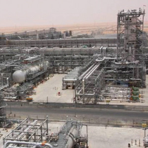 A view of Saudi Aramco's new oil production facilities at Khurais. The company recently extended the bidding phase for its Jizan refinery project.