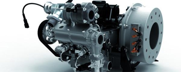 Auf Basis des M1-Monoblock-Designs entwickelt Steyr seinen 2-Zylinder-Biodiesel-Range-Extender. Mit 68 Zentimetern Länge soll er laut dem Unternehmen der kleinste Motor in dieser Leistungsklasse sein.