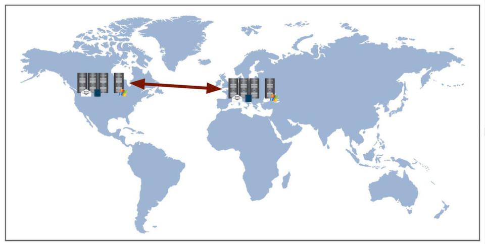 Ohne WAN-Optimierung ist eine Datenreplizierung zwischen weit entfernten Rechenzentren wegen fast unmöglich. Der Grund sind die hohen Latenzzeiten, die durch die große Distanz entstehen.