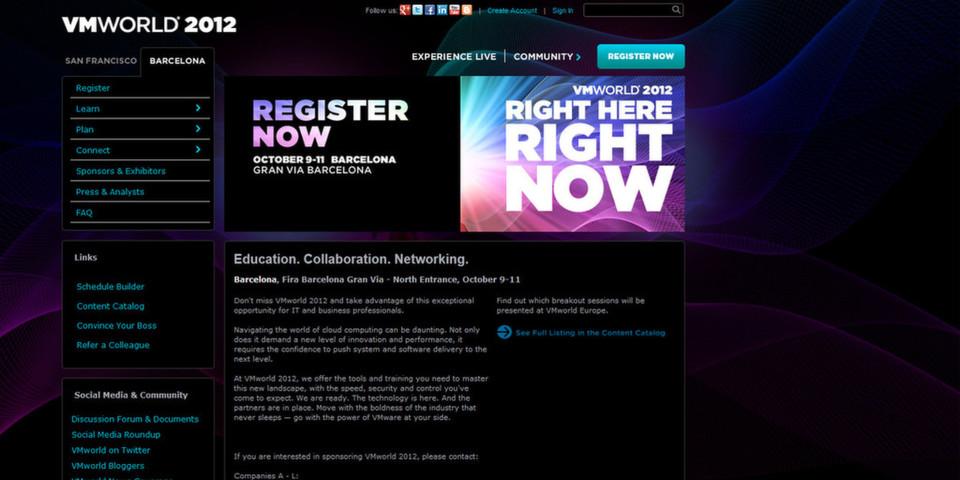 Das Branchentreffen der Virtualisierung: VMworld 2012 Europe in Barcelona.